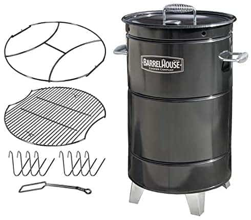 Best charcoal and wood barrel smoker Barrel House cooker