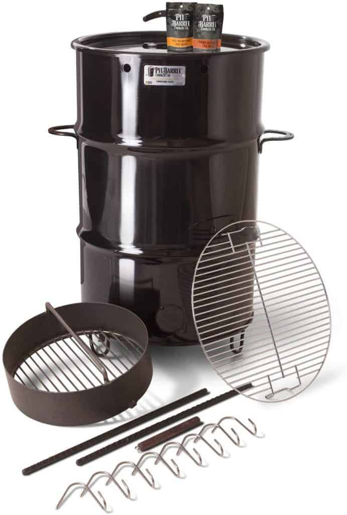 Classic pit barrel cooker drum smoker package