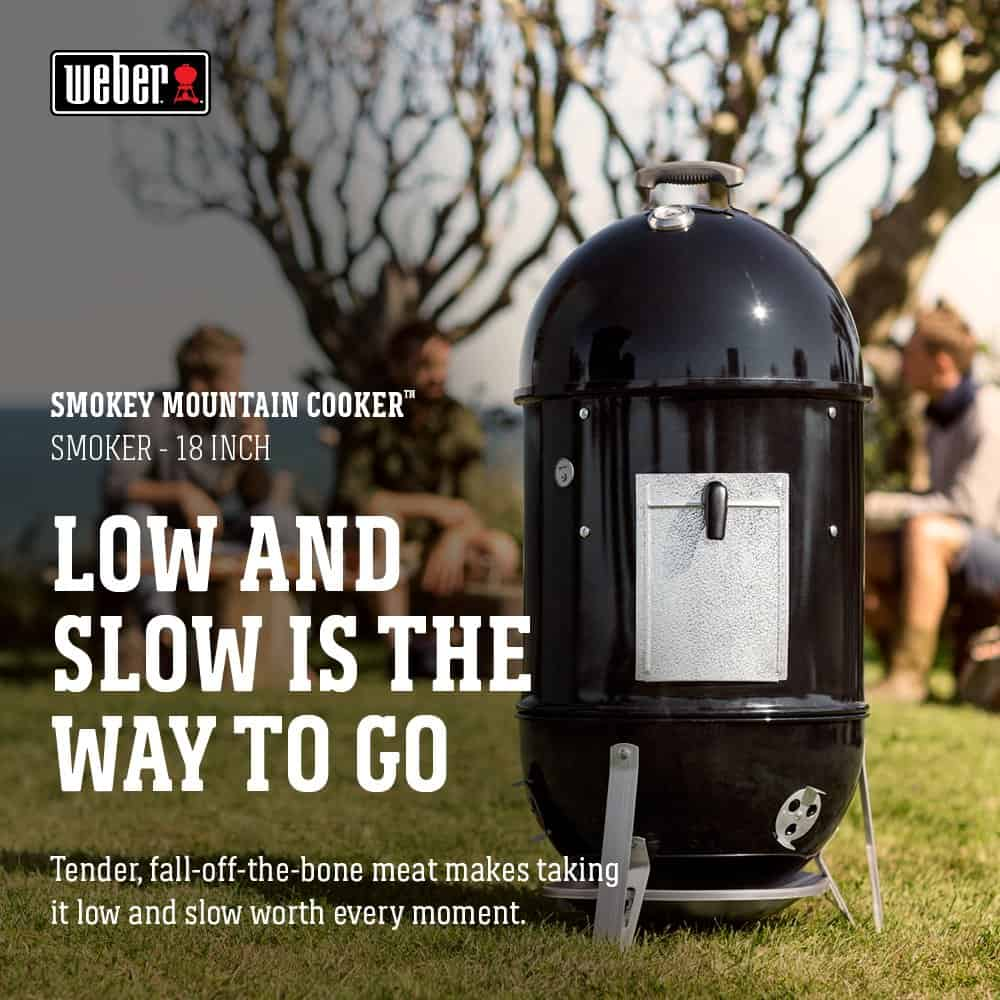 Weber brand smokey mountain cooker