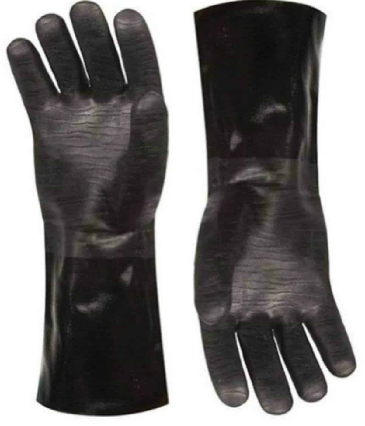 Insulated waterproof / oil and heat resistant BBQ, smoker, grill, and cooking gloves