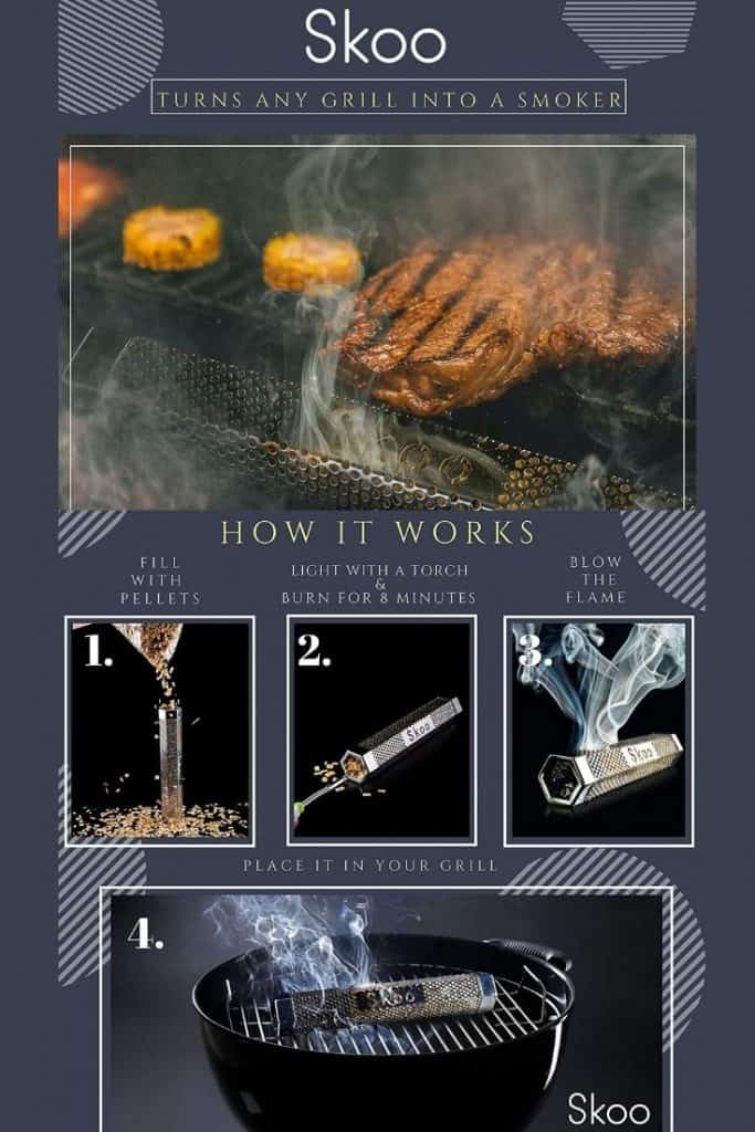 Turn grill into smoker in 4 easy steps