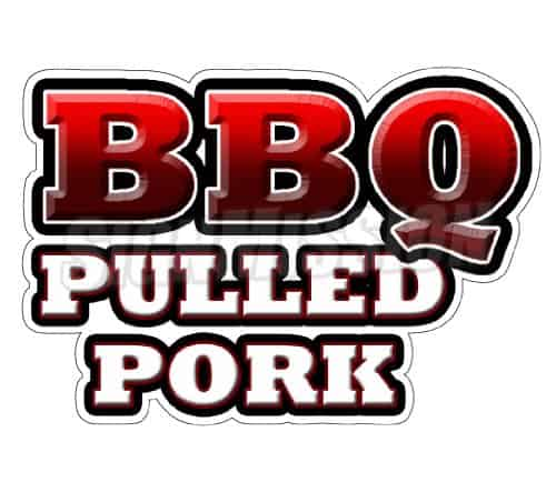 BBQ pulled pork text sign