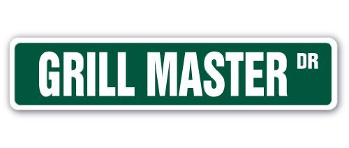 Grill master street sign decal