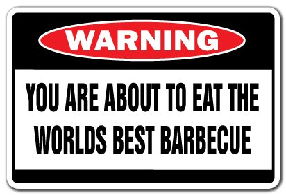 Worlds best barbecue decal