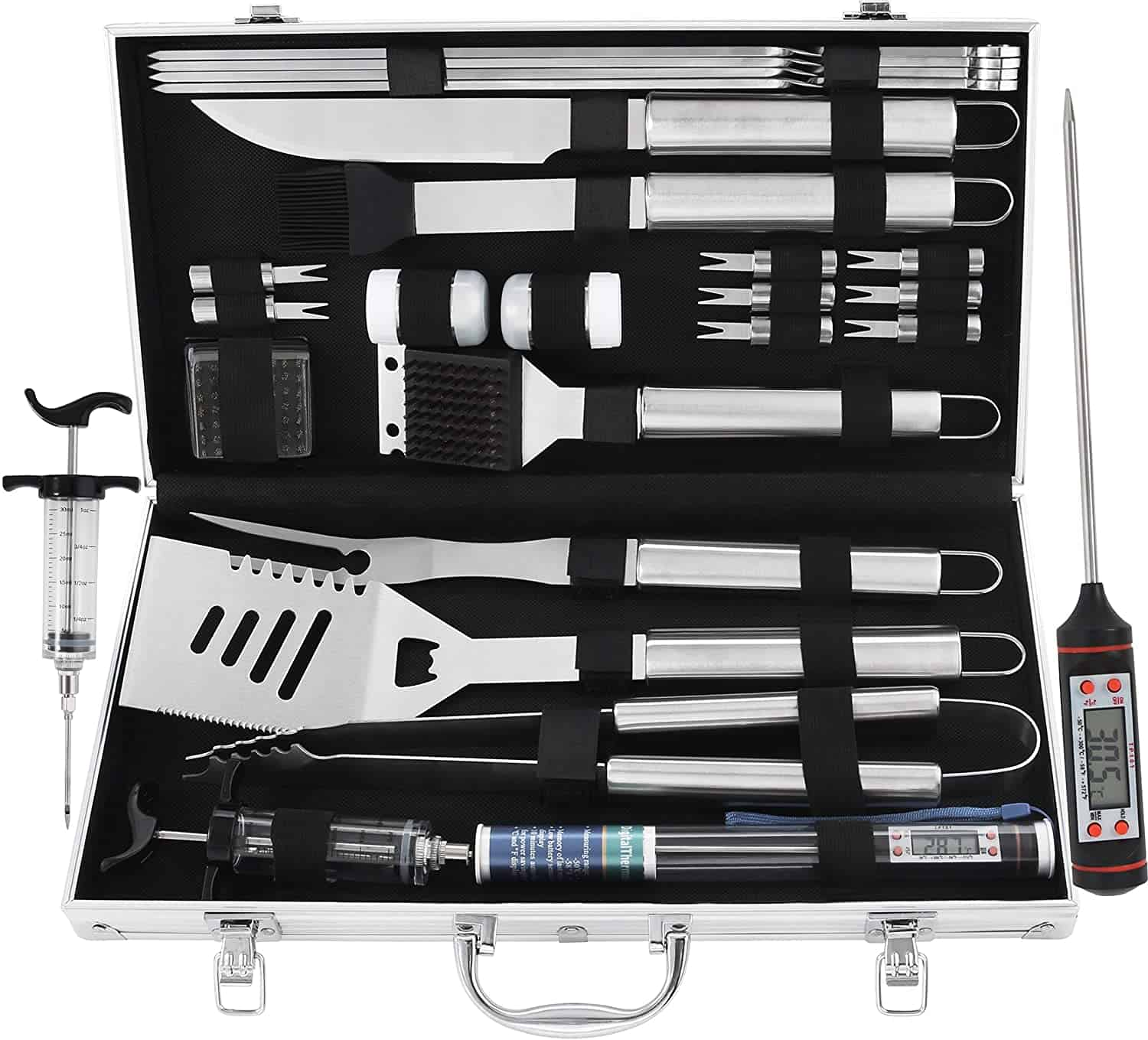 Grilljoy all in one smoking grill accessorie set