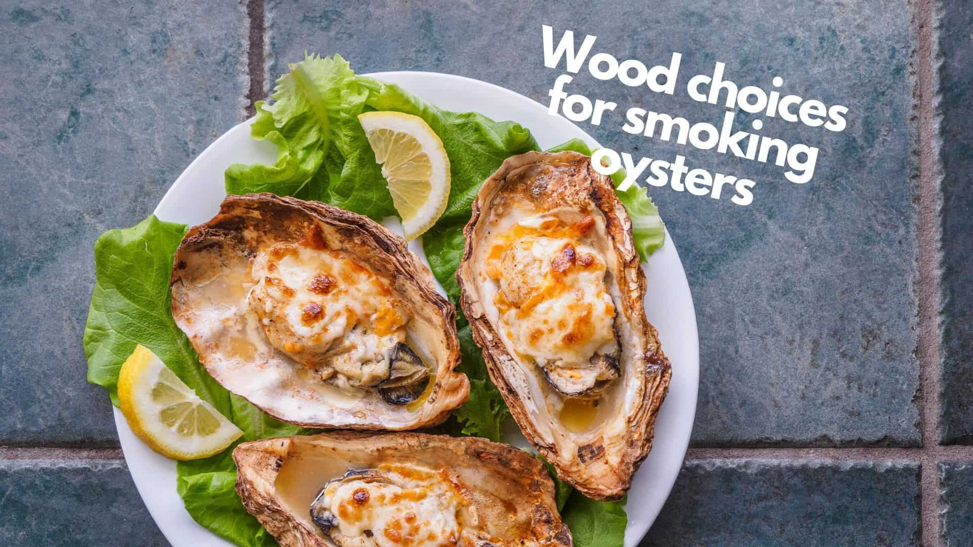 Best wood for smoking oysters | 7 top choices & 4 to really avoid