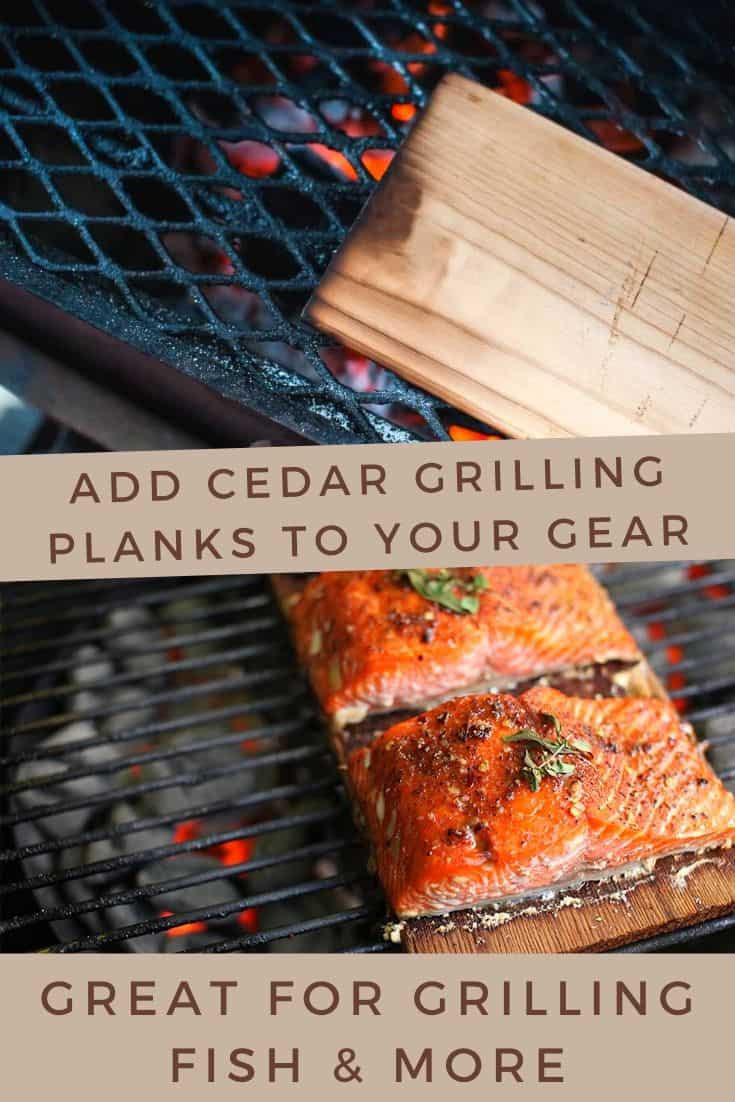 Cedar grilling planks for grilling fish