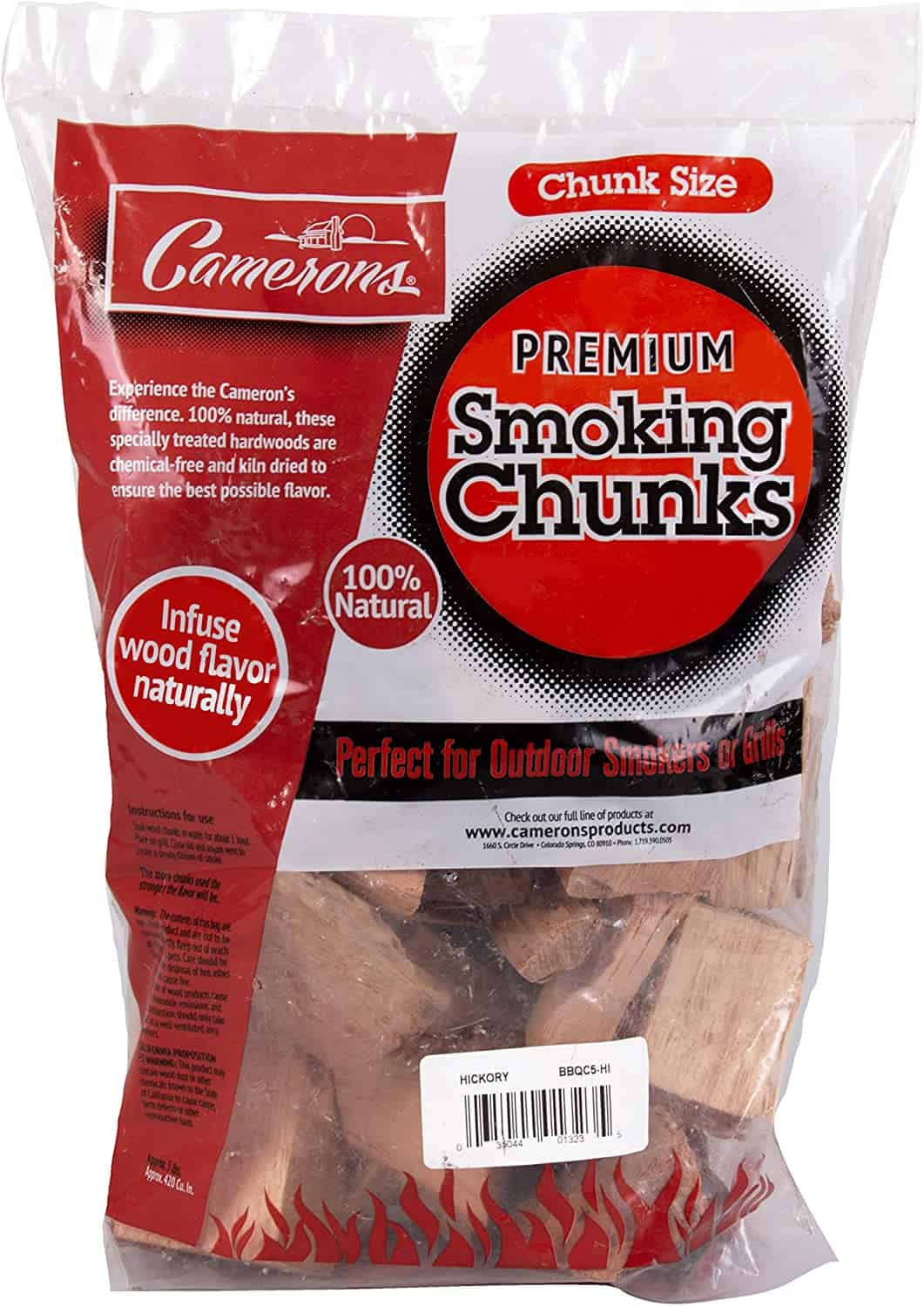 Camerons Products Smoking Wood Chunks- (Alder) Kiln Dried