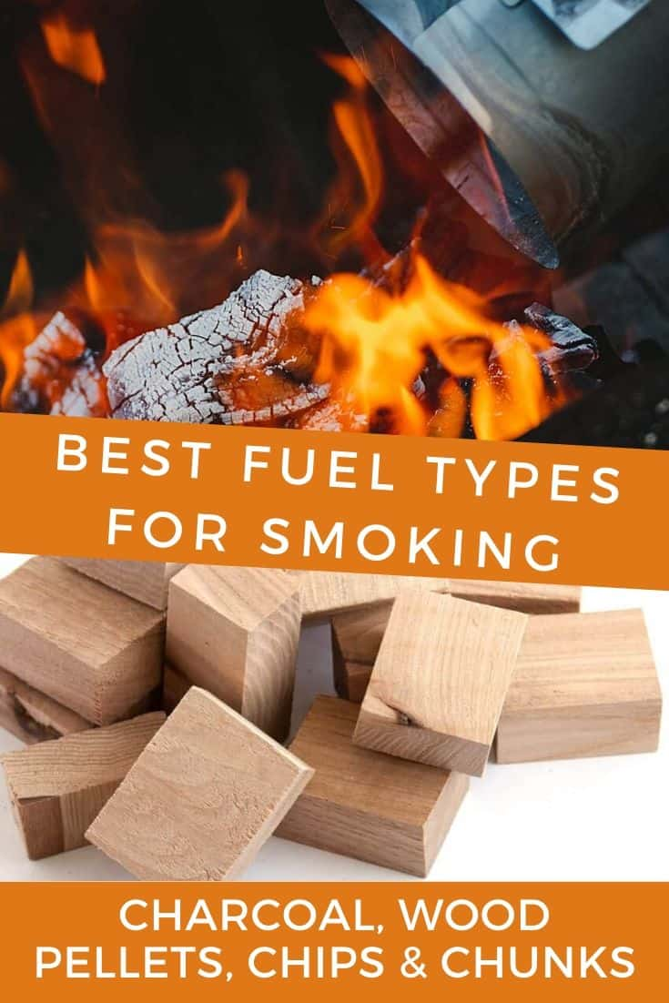 Charcoal and wood chunks to smoke with