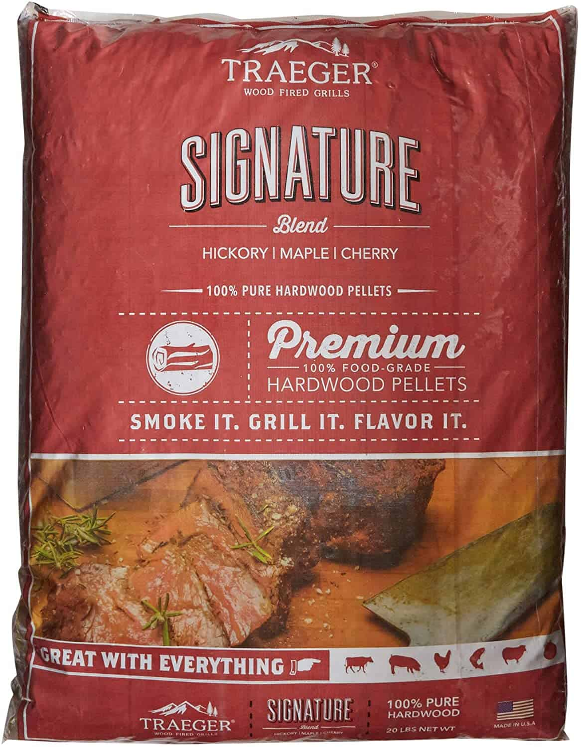 Traeger Grills Signature Blend 100% All-Natural Hardwood Pellets