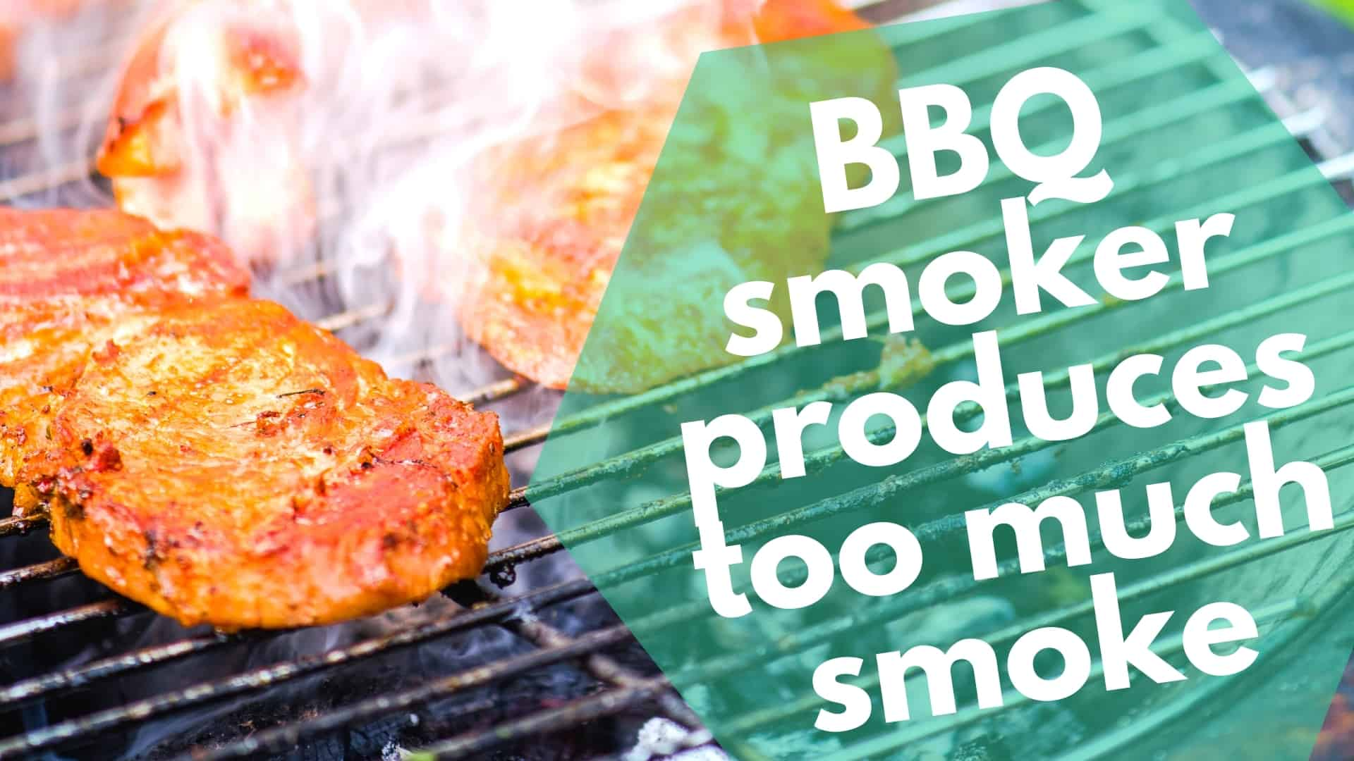 BBQ smoker produces too much smoke