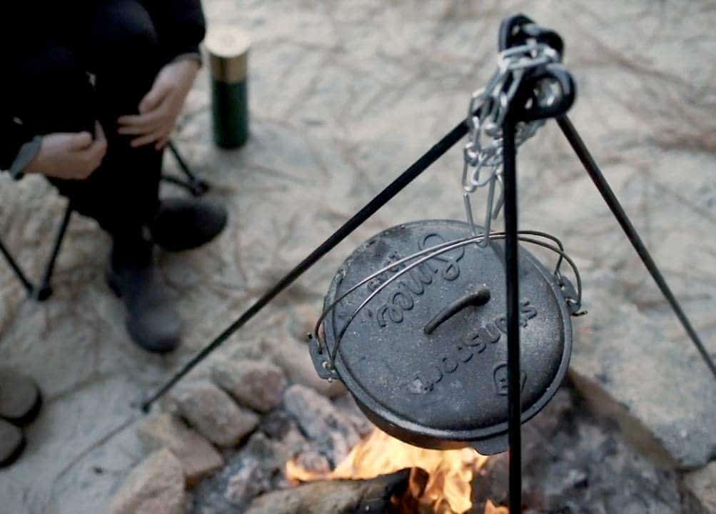 Tripod for camp dutch oven cooking