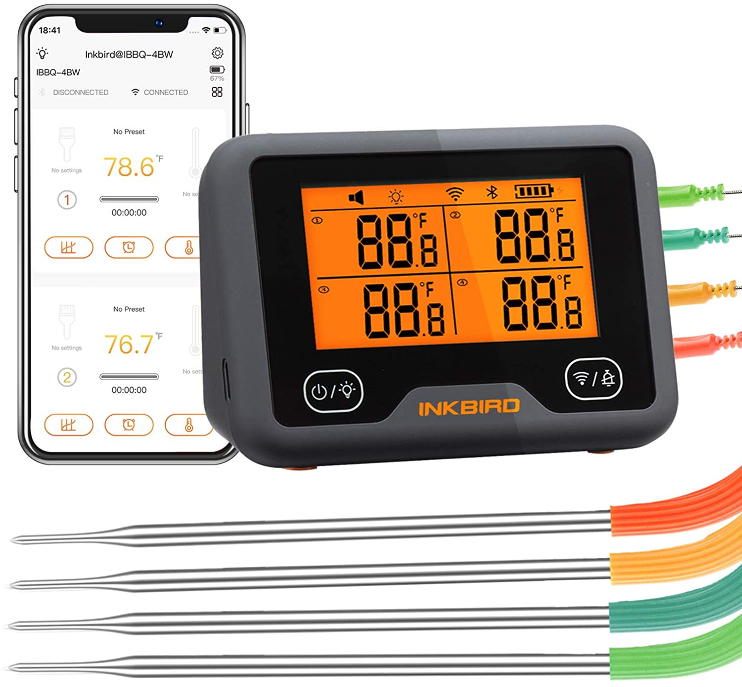 Best Bluetooth thermometer for smoker- Inkbird Grill Thermometer