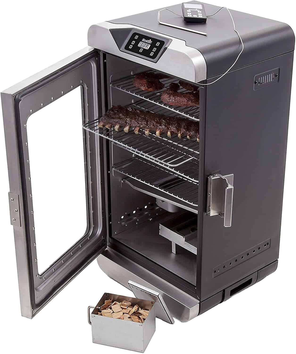 Easiest to use & with remote control- Char-Broil 17202004 Digital Electric Smoker