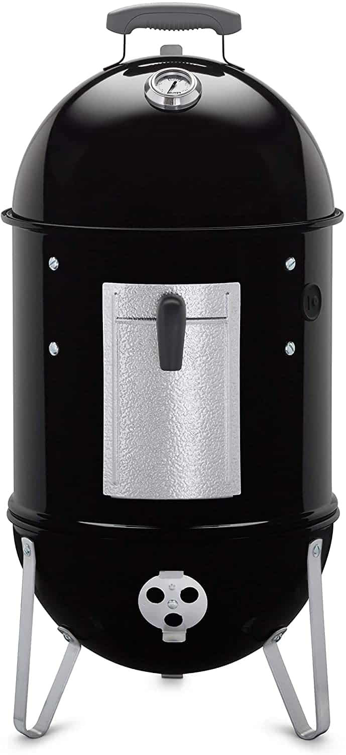 Easy to use charcoal grill for beginners- Weber 14-inch Smokey Mountain Cooker