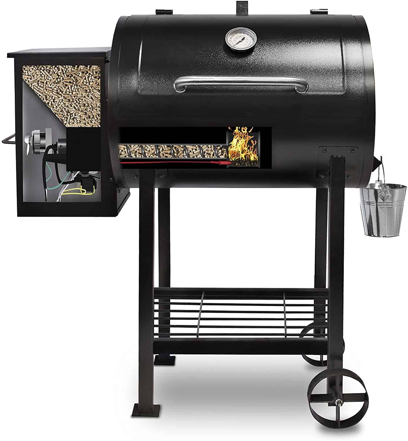 Best Pellet grill with flame broiler: Pit Boss Grills PB72700S