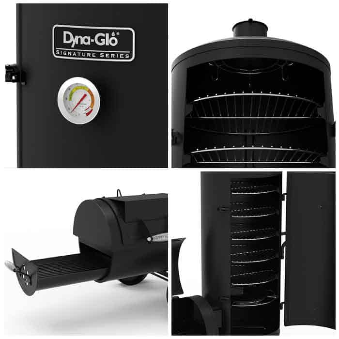 dyna-glo-offset-vertical-smoker-features