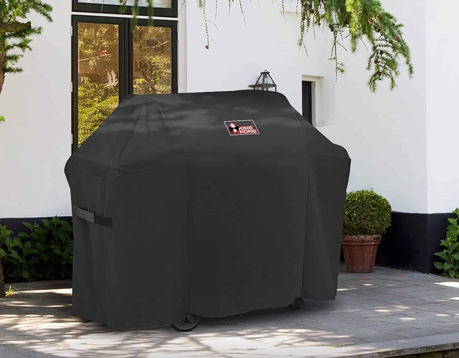 A grill cover for the big boys- KingKong outside