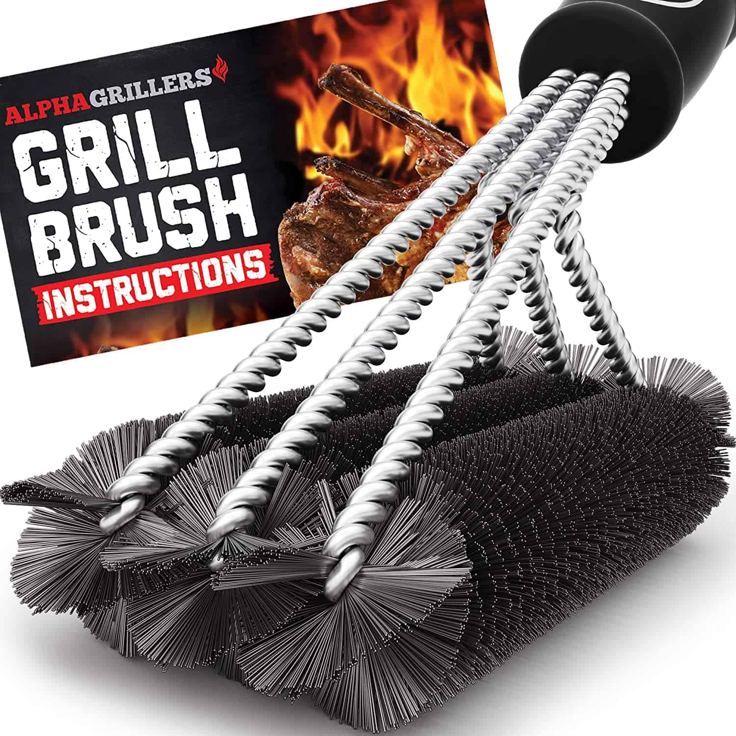 Best budget grill brush- Alpha Grillers Grill Brush