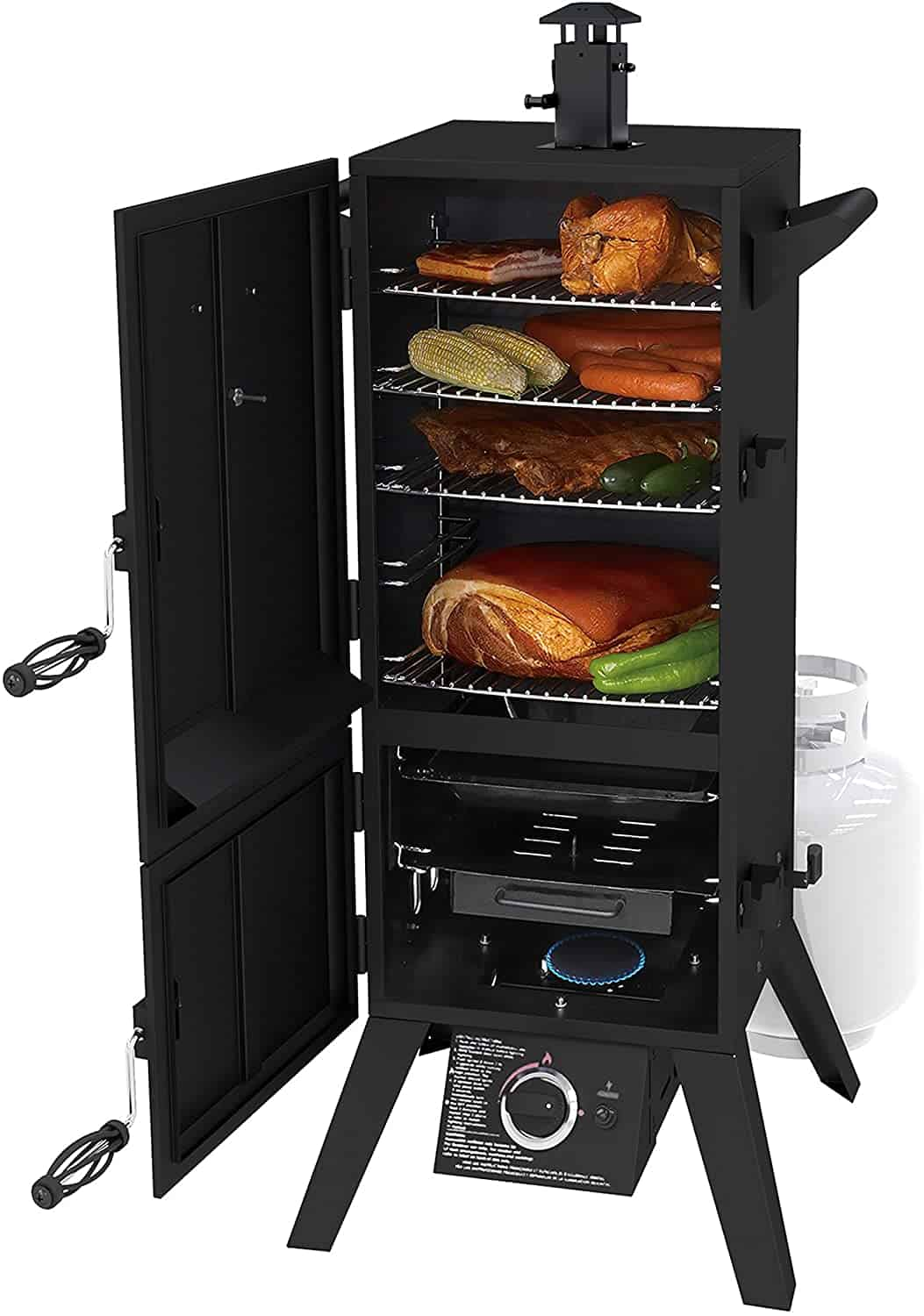 Best propane smoker overall for everyday use- Dyna-Glo DGY784BDP 36 Vertical LP