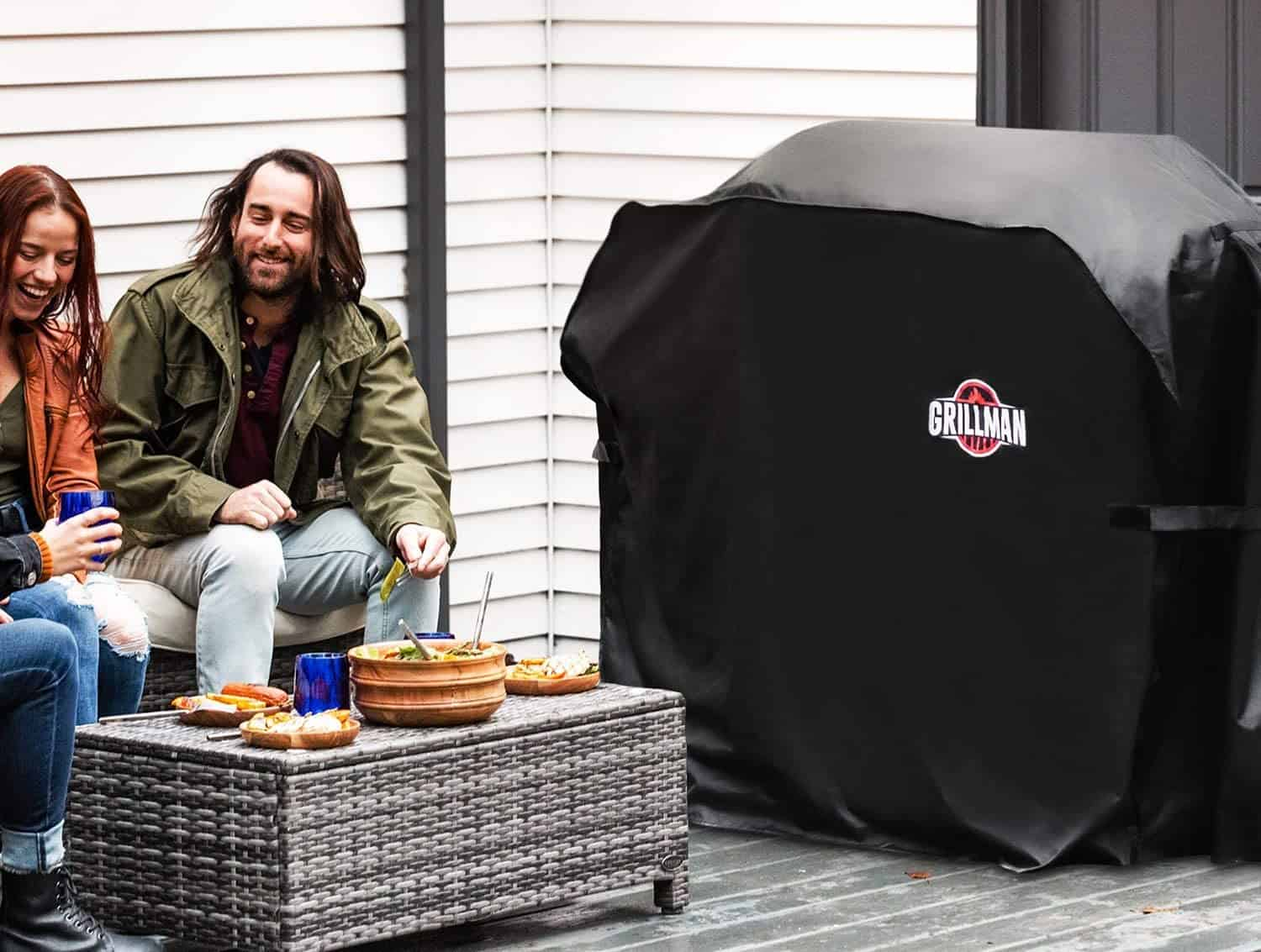 The best heavy-duty grill cover- Grillman Premium outside