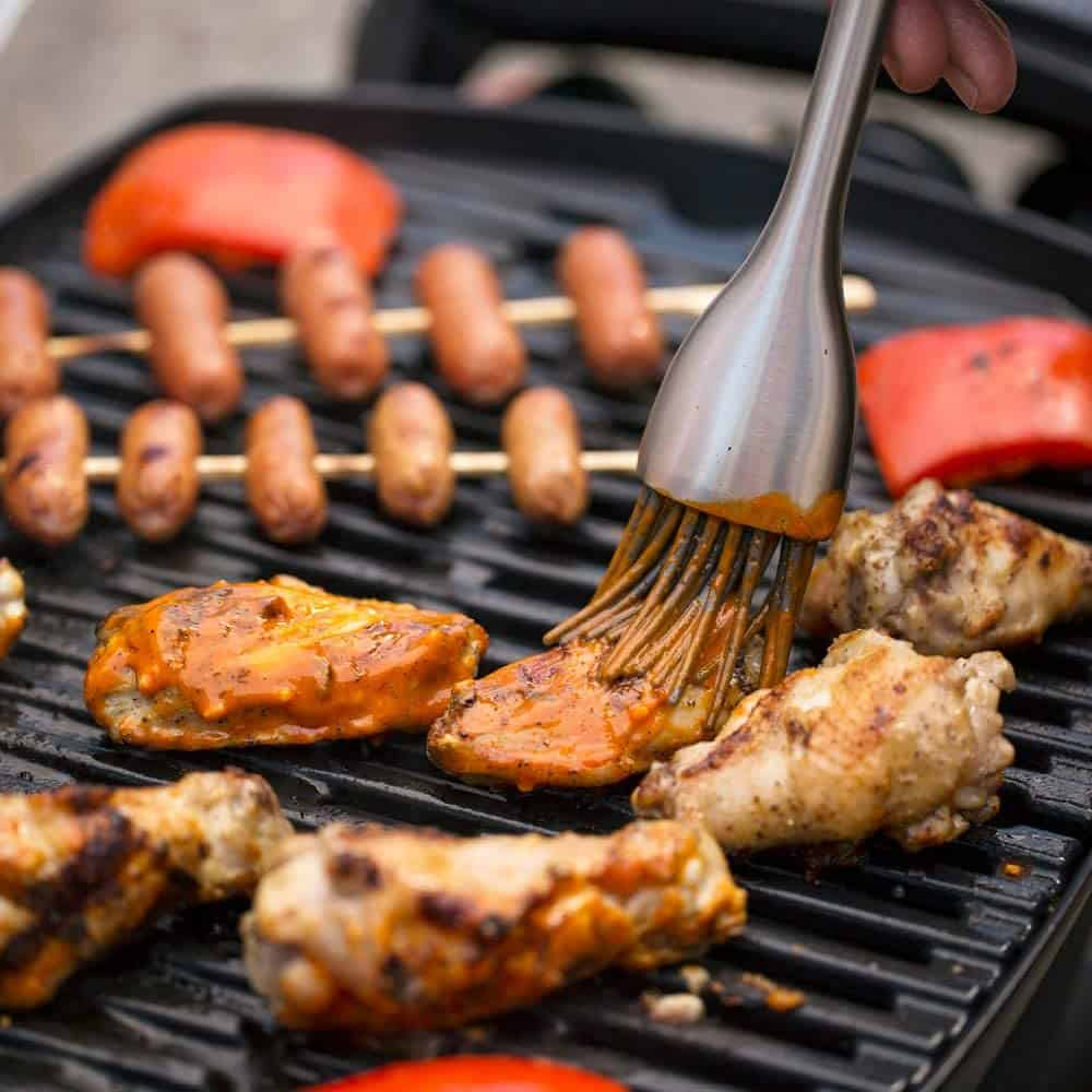 Best gas grill under $200 overall- Weber Q1200 with meat