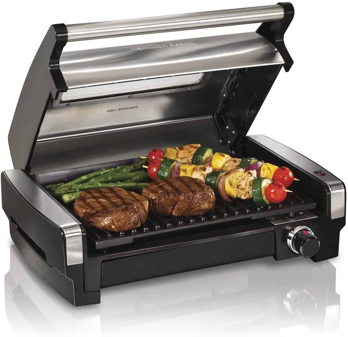 Best indoor grill overall- Hamilton Beach 3-in-1 Indoor Grill and Electric Griddle Combo