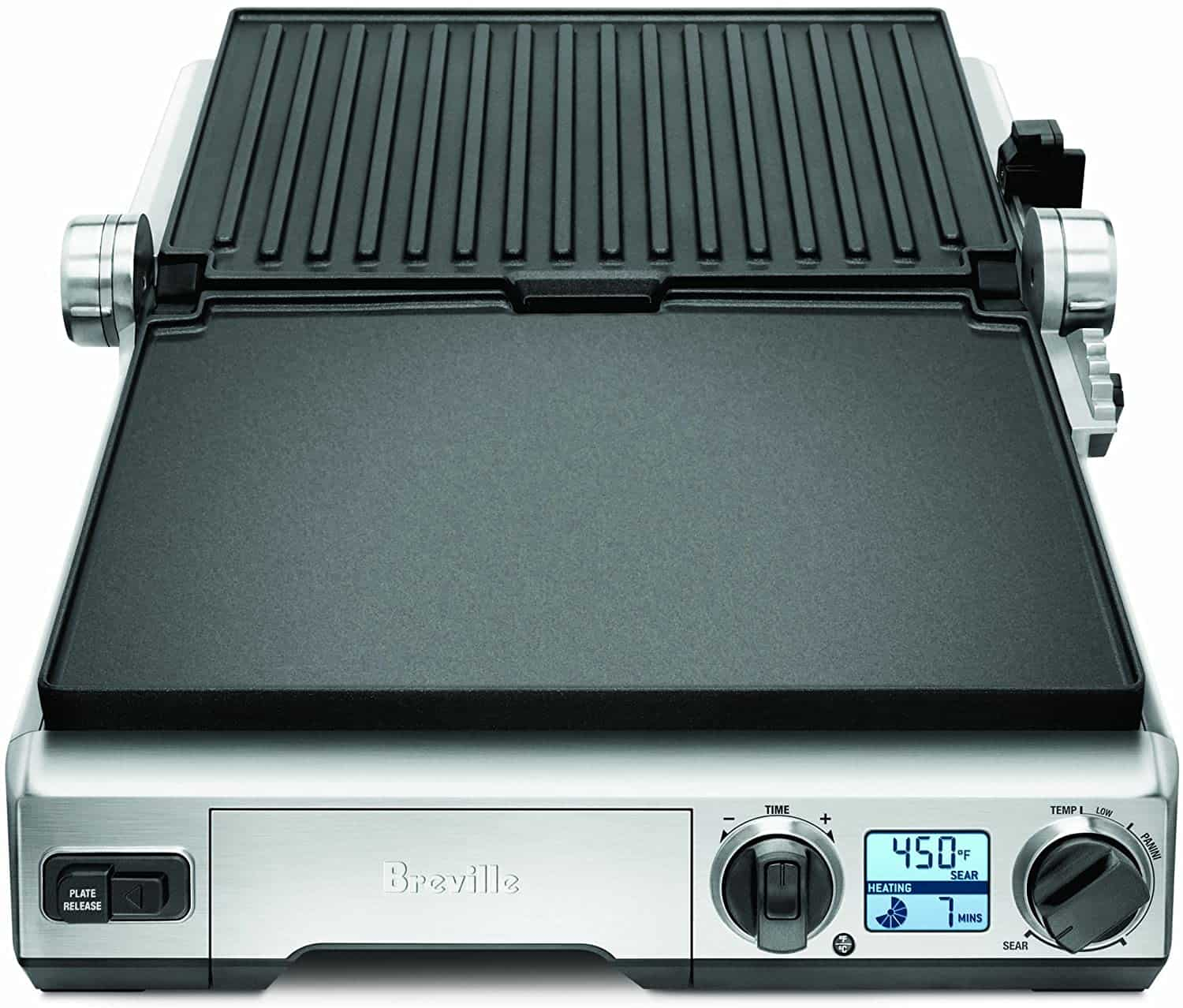 Best indoor grill with a flat 'BBQ mode'- Breville BGR820XL Smart Grill