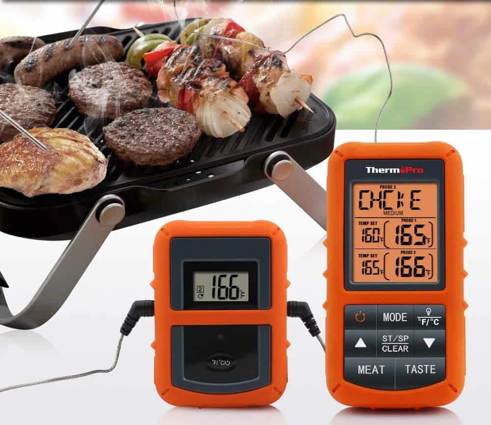 Best leave-in thermometer-ThermoPro TP20 in meat