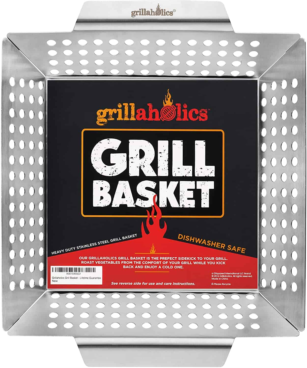Best long-term investment grill basket- Grillaholics Heavy Duty Grill Basket