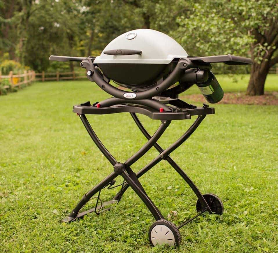 Best portable gas grill overall- Weber Q 1200 outdoors