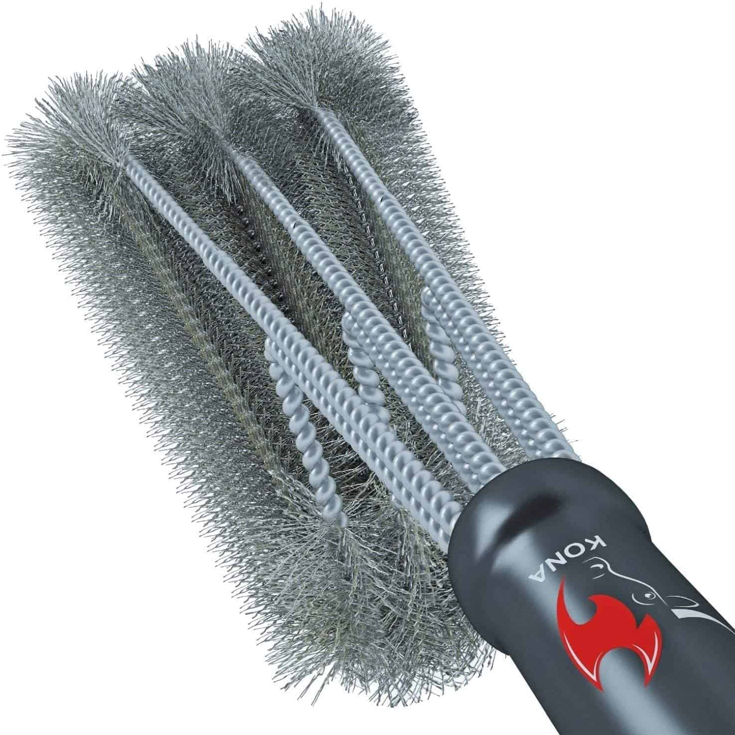 Most efficient grill brush for all types of grills- Kona 360° Clean Grill Brush