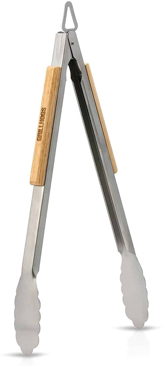 Most useful tongs for grilling- GRILLHOGS Barbecue Grill Tongs