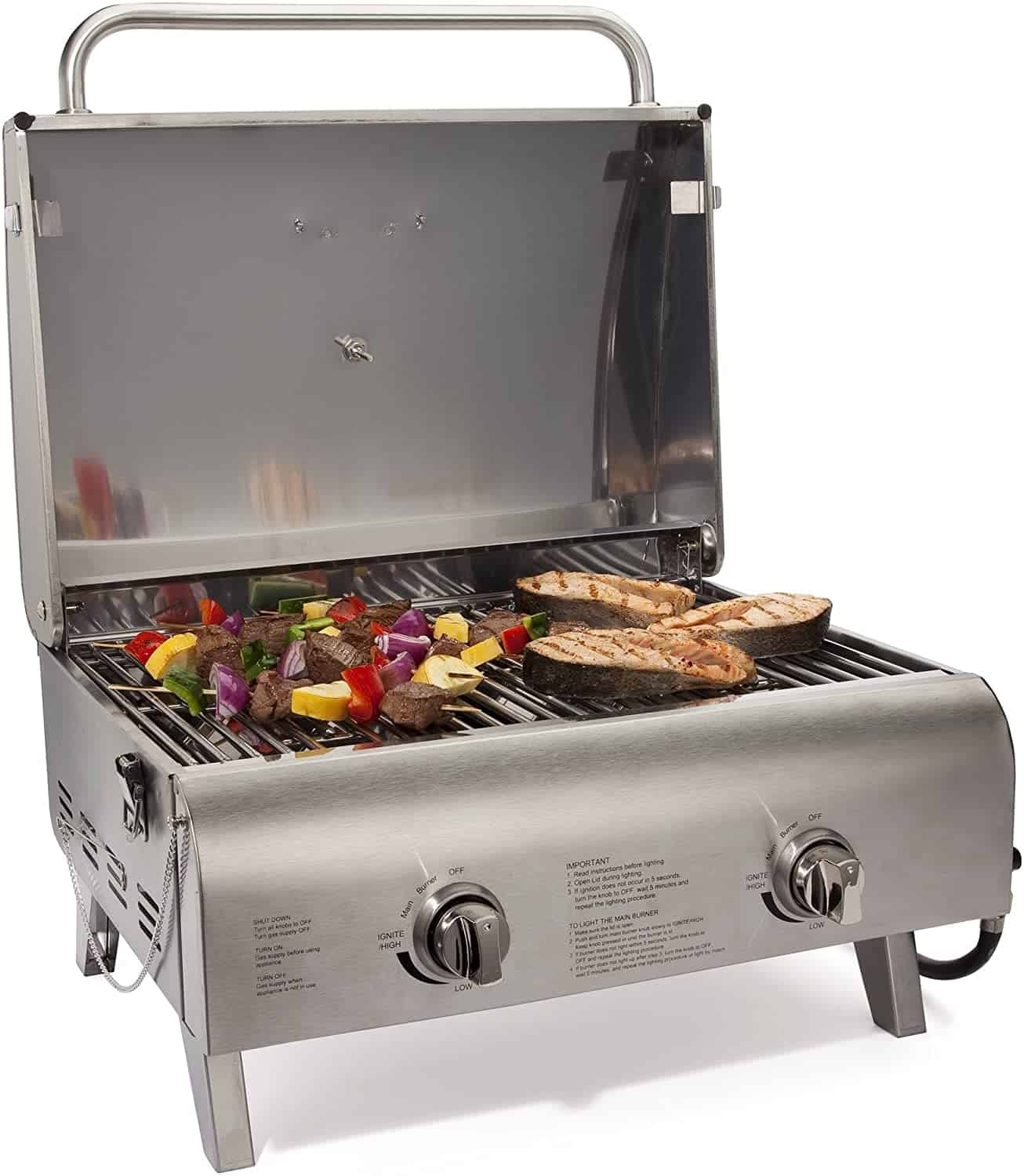 The best 2-burner tabletop grill- Cuisinart CGG-306 Chef's Style Propane